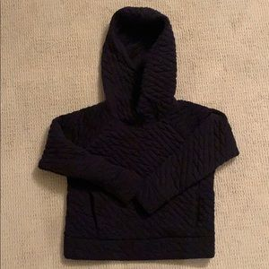 Gap fit jacquard navy hooded sweatshirt